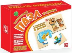 Пазл деревянный 4 элемента Русские деревянные игрушки Домашние животные Д543а