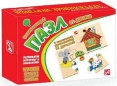 Пазл деревянный 4 элемента Русские деревянные игрушки Теремок Д550а
