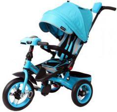 Велосипед трехколёсный Moby Kids Leader 360° AIR Car 300/250 мм бирюзовый