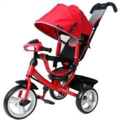 Велосипед трехколёсный Moby Kids Comfort EVA Car 300/250 мм красный 641081