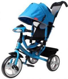 Велосипед трехколёсный Moby Kids Comfort 12x10 EVA Car 300/250 мм синий 641082