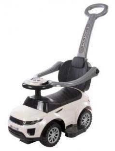 Каталка-машинка Baby Care Sport car пластик от 1 года с ручкой для родителей белый