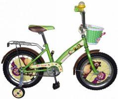 """Велосипед двухколёсный Navigator Маша и Медведь 16"""" зеленый ВН16115"""