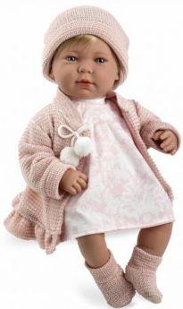 Arias ELEGANCE мягк кукла 45 см.,в одежед, роз., со звук. эфф. смех при нажатии на животик (3хLR44/AG13), в кор. 26*16,5*48 см.