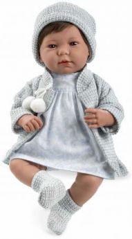Arias ELEGANCE мягк кукла 45 см.,в одежед, голуб., со звук. эфф. смех при нажатии на животик (3хLR44/AG13), в кор. 26*16,5*48 см.