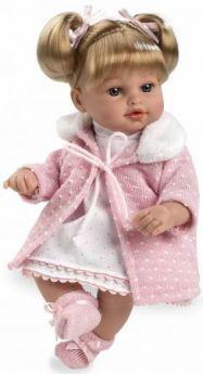 Arias ELEGANCE мягк кукла 33 см., со звук. эфф. смех (3хLR44/AG13), с соской, роз. в кор. 24,5*14*40,5 см.