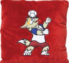 Подушка волк FIFA Забивака 33 см красный полиэстер