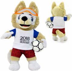 Мягкая игрушка волк FIFA Zabivaka 40 см полиэстер