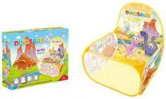 Манеж детский игровой Динозаврики, 59*59*74см, в комплекте пласт.шары 60шт., коробка