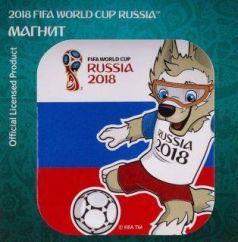 "Магнит картон FIFA 2018 Забивака ""Удар!"" триколор"