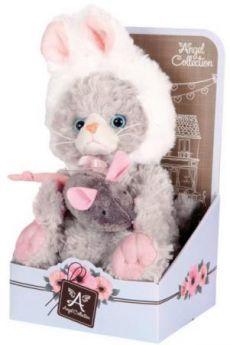 """Мягкая игрушка котенок Angel Collection Cat story """"Зайка"""" 20 см искусственный мех 681343"""