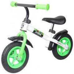 """Беговел двухколёсный Moby Kids KidRun 10 10"""" бело-зеленый 641166"""