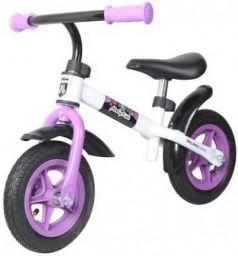 """Беговел двухколёсный Moby Kids KidRun 10 10"""" бело-фиолетовый 641167"""