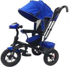 Велосипед трехколёсный Moby Kids Comfort 360° 12x10 AIR 12*/10* синий 641068