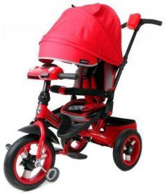 Велосипед 3кол. с разворотным сиденьем Leader 360° 12x10 AIR Car, красн.