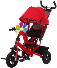 """Велосипед трехколёсный Moby Kids Comfort 10x8 AIR 10""""/8"""" красный 641051"""