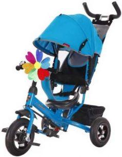 """Велосипед трехколёсный Moby Kids Comfort 10x8 AIR 10""""/8"""" синий 641052"""