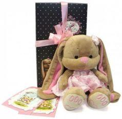 Мягкая игрушка зайка в розовом платье Jack Lin JL-002-25-КСО 25 см