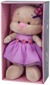 Мягкая игрушка зайка в фиолетовом платье Jack Lin JL-021-25-КСО 25 см