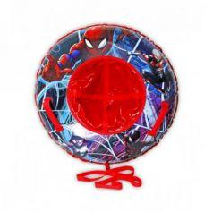"""Marvel """"Человек-Паук"""", тюбинг - надувные сани,резин.автокамера, материал глянцевый пвх 500 гр/кв.м.,85см,букс.трос,цветн.кор."""