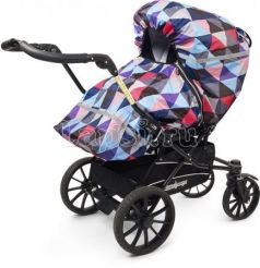 Дождевик для прогулочной коляски Tullsa Diamond multi 83714(Diamond multi 83714 фиолетовый)
