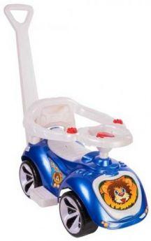 Каталка-машинка RT Мишка (LAPA) пластик от 10 месяцев на колесах синий