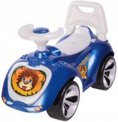 Каталка-машинка RT Мишка (LAPA) пластик от 18 месяцев на колесах синий
