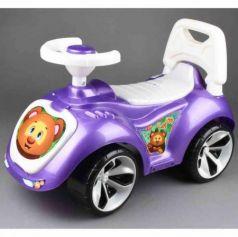 Каталка-машинка RT Мишка (LAPA) пластик от 18 месяцев на колесах фиолетовый