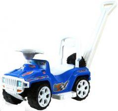Каталка-машинка RT RACE MINI Formula 1 пластик от 10 месяцев с ручкой для родителей синий
