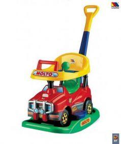 Каталка-машинка Molto Викинг №2 пластик от 8 месяцев на колесах красный 63007