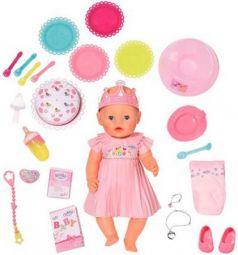 Игрушка BABY born Кукла Интерактивная Нарядная с тортом, 43 см, кор.