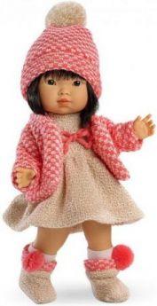 Кукла Валерия азиатка в коралловом 28 см