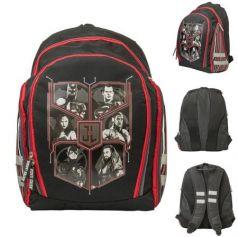 Рюкзак школьный DC Cоmics, разм.39x32.5x17см, уплот. спинка с рельеф. встав.,светоот.элем.,чер,д/мал