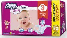 Подгузники Helen Harper Baby размер 3 Midi (4-9 кг) 70 шт.