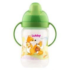 """Поильник-непроливайка Lubby """"Веселые животные"""" с твердым носиком от 6 месяцев 250 мл"""