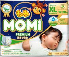 Подгузники-трусики MOMI Premium Night XL (12-20 кг) 22 шт