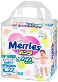Трусики Merries L (9-14 кг) 22 шт