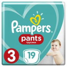 Трусики Pampers Pants 3 (6-11 кг) 19 шт