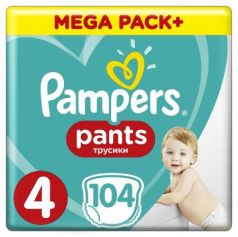 Трусики Pampers Pants 4 (8-14 кг) 104 шт