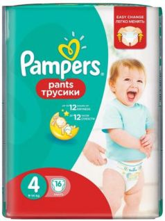 Трусики Pampers Pants 4 (8-14 кг) 16 шт