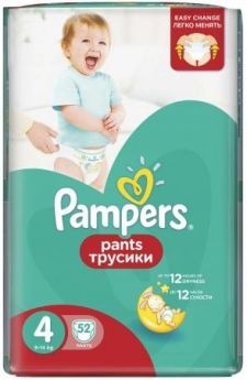 Трусики Pampers Pants 4 (8-14 кг) 52 шт