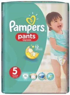 Трусики Pampers Pants 5 (11-18 кг) 15 шт
