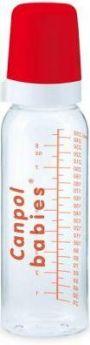 Бутылочка Canpol стекл., с сил. соской, 12+ мес., 240 мл, арт. 42/101, цвет красный