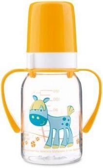 Бутылочка Canpol Cheerful animals трит., с ручк., с сил. соской, 120 мл, 3+, арт. 11/823prz, лошадка