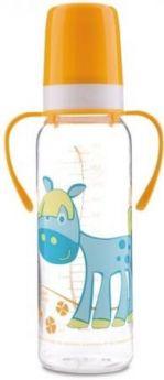 Бутылочка Canpol Cheerful animals тритан., с ручк., сил. соска, 250 мл, 12+ , 11/845prz, лошадка