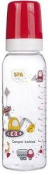 Бутылочка Canpol Machines тритановая, с сил. соской, 250 мл, 12+ мес., арт. 11/848, красный