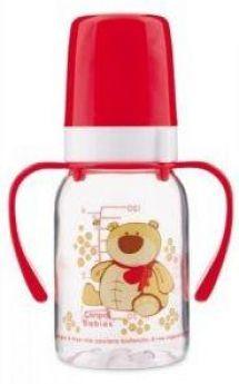 Бутылочка Canpol Cheerful animals трит., с ручк., с сил. соской, 120 мл, 3+, арт. 11/823prz, мишка