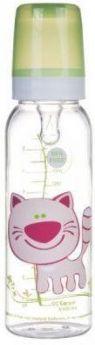 Бутылочка Canpol Cheerful animals тританов., сил. соска, 250 мл, 12+, арт. 11/841prz, котёнок
