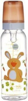 Бутылочка Canpol Cheerful animals тританов., сил. соска, 250 мл, 12+, арт. 11/841prz, зайка