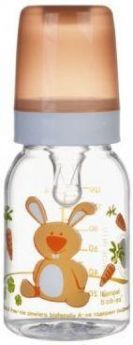 Бутылочка Canpol Cheerful animals трит., сил. соска, 120 мл, 3+, арт. 11/851prz, зайка